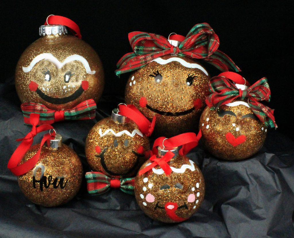 Gingerbread Family Ornaments